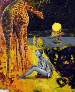 Giraffe & Lady