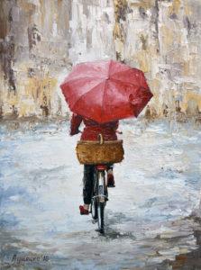 Walk under the rain