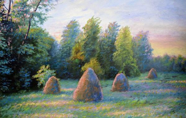 Haystacks at the End of Summer