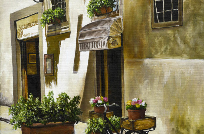 The street of Italy